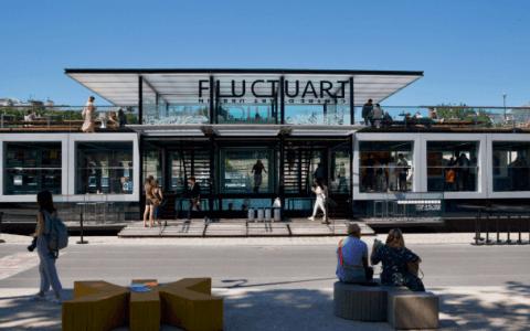 Visit Fluctuart: Paris' First Floating Urban Art Centre