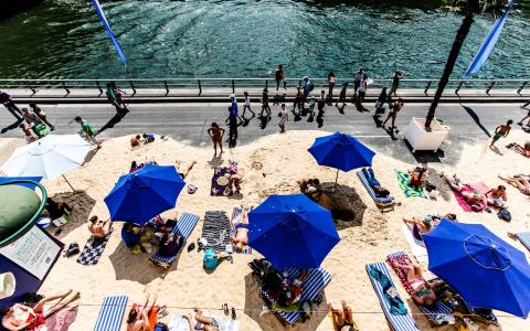 Soak Up the Sun or Play a Game on a Paris Beach This Summer