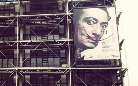 Salvador Dali in Beaubourg