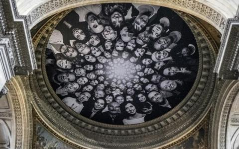 Street Artist JR Brings a Photography Installation to the Pantheon