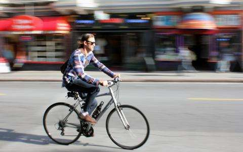Summer getaway; cycling through Paris in the sunshine